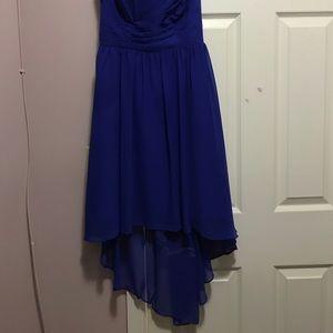 Alfred Angelo bridesmaid dress blue cobalt size 0